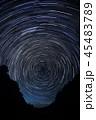 星空 光跡 夜の写真 45483789