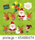 クリスマス トナカイ サンタクロースのイラスト 45486474