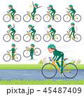 flat type school girl green jersey_road bike 45487409