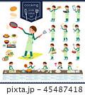 flat type school girl green jersey_cooking 45487418