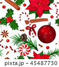 クリスマス パターン 柄のイラスト 45487730