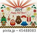 お正月 イノシシ 亥のイラスト 45488083