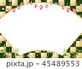 扇 市松 コピースペースのイラスト 45489553