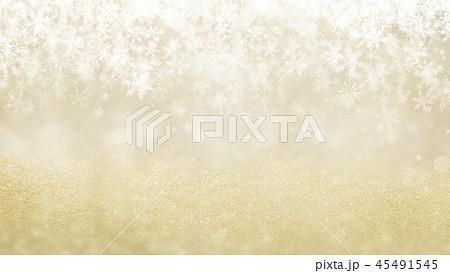 背景-雪-クリスマス-ゴールド-キラキラ 45491545