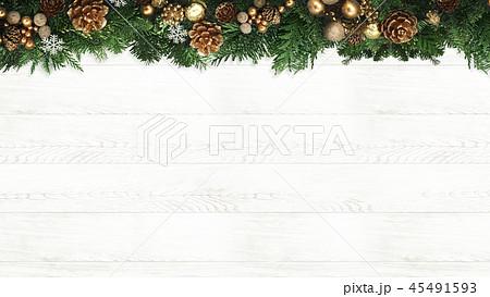 背景-木目-クリスマス-飾り 45491593