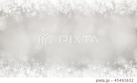 背景-雪-クリスマス-シルバー-キラキラ 45491632