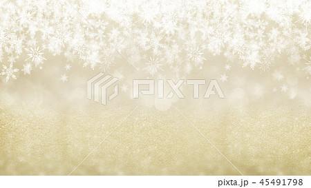 背景-雪-クリスマス-ゴールド-キラキラ 45491798