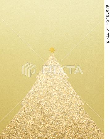 背景-クリスマス-ツリー-星-ゴールド 45492079