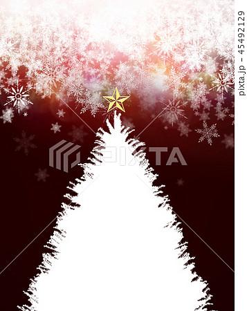 背景-クリスマス-ツリー-飾り-赤 45492129
