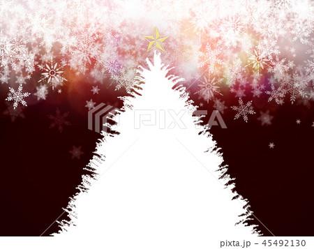 背景-クリスマス-ツリー-飾り-赤 45492130