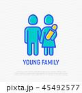 ファミリー 家庭 家族のイラスト 45492577