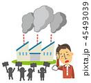 公害 工場 男性のイラスト 45493039