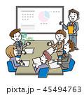 打ち合わせ 会議 ビジネスのイラスト 45494763