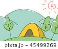 キャンプ テント アウトドアのイラスト 45499269