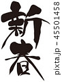 新春 筆文字 文字のイラスト 45501458