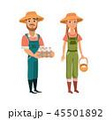農業 農耕 カップルのイラスト 45501892
