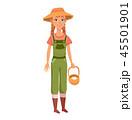 農業 農耕 籠のイラスト 45501901