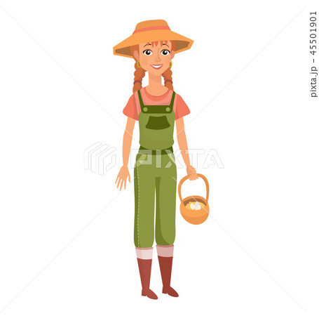 ginger woman with braids as farm worker 45501901