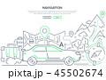 ベクトル 地図 車のイラスト 45502674