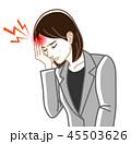 頭痛 偏頭痛 女性のイラスト 45503626