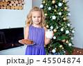 クリスマス クリスマスツリー 子の写真 45504874