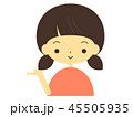 女の子 人物 笑顔のイラスト 45505935