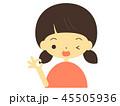 女の子 人物 10代のイラスト 45505936