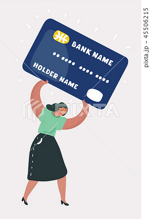 Woman in debt on credit card 45506215