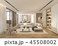 家具 インテリア リビングルームのイラスト 45508002