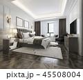 ベッド ベッドルーム 寝室のイラスト 45508004