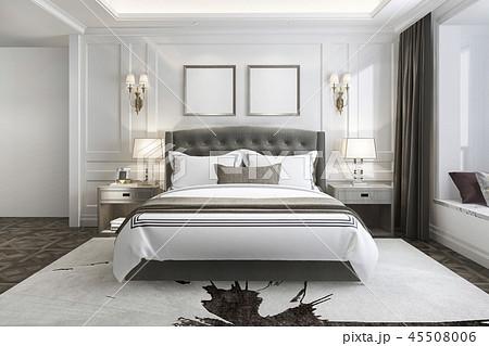 beautiful luxury bedroom suite in hotel with tv 45508006