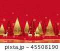 クリスマス 背景 森のイラスト 45508190