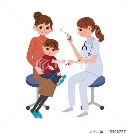インフルエンザ 予防接種 注射 イラスト 45508767