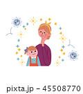 インフルエンザ 予防 ばい菌のイラスト 45508770