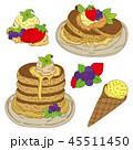 パンケーキ ホットケーキ デザートのイラスト 45511450