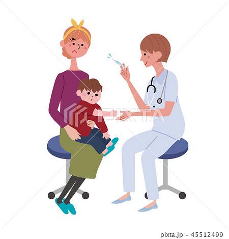 インフルエンザ 予防接種 注射 イラスト 45512499