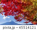 富士山 紅葉 秋の写真 45514121