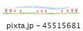 背景 桜 青空のイラスト 45515681