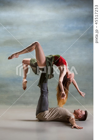 Two people dancing 45517253