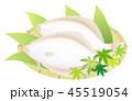 鰈 魚 海産物のイラスト 45519054