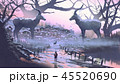 インパラ 動物 かもしかのイラスト 45520690