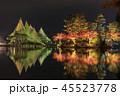 兼六園 ライトアップ 紅葉の写真 45523778