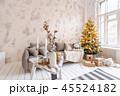 クリスマス リビングルーム 樹木の写真 45524182