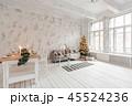 クリスマス リビングルーム 樹木の写真 45524236