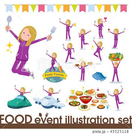 flat type fair girl purple jersey_food festival 45525118