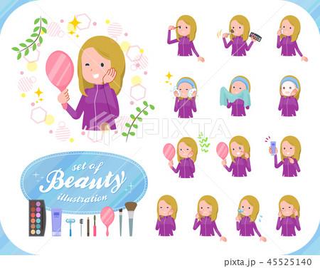 flat type fair girl purple jersey_beauty 45525140