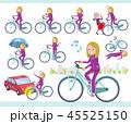 女性 白人 自転車のイラスト 45525150