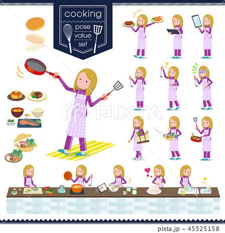 flat type fair girl purple jersey_cooking 45525158