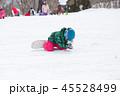 スノーボード スノボ 雪だるまの写真 45528499