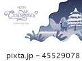 クリスマス あいさつ グリーティングのイラスト 45529078